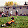 Soccer in the back yard