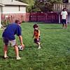 Soccer in the back yard