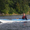 Susan in Nigel's kayak