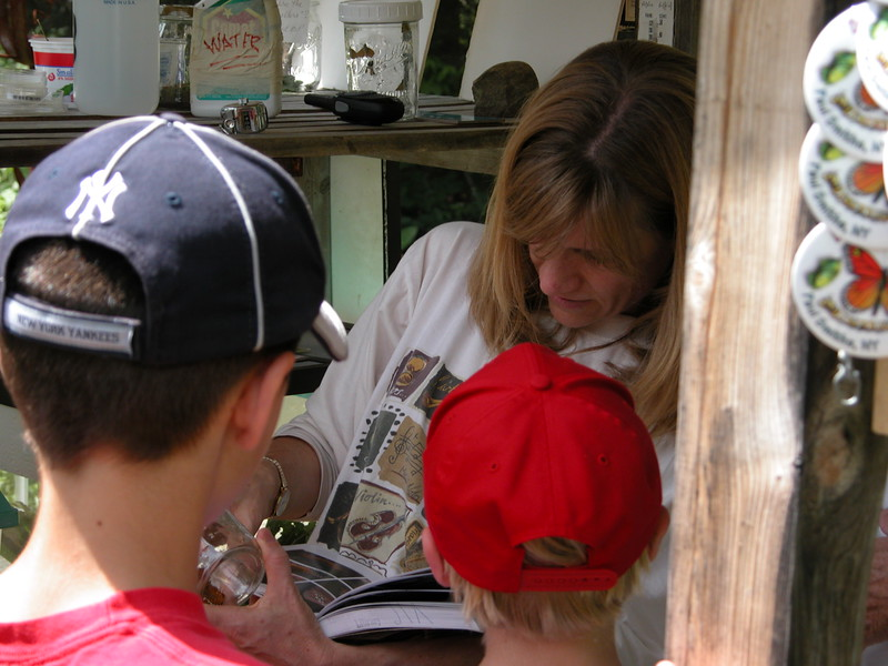 Adirondack Visitors Interpretive Center - Butterfly House: the lovely and helpful Sue Grimm