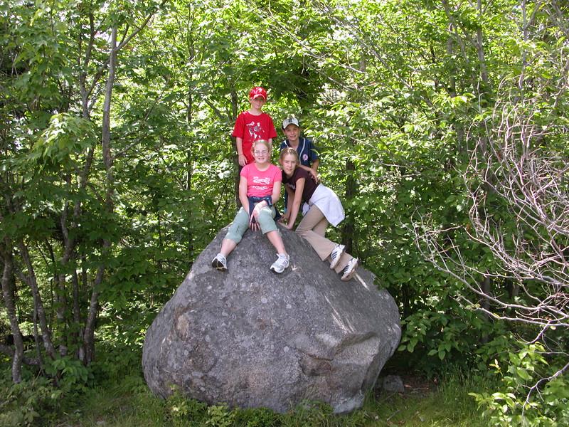 Panther Mountain Hike - Kids on top