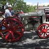 A tractor sporting STEEL wheels!