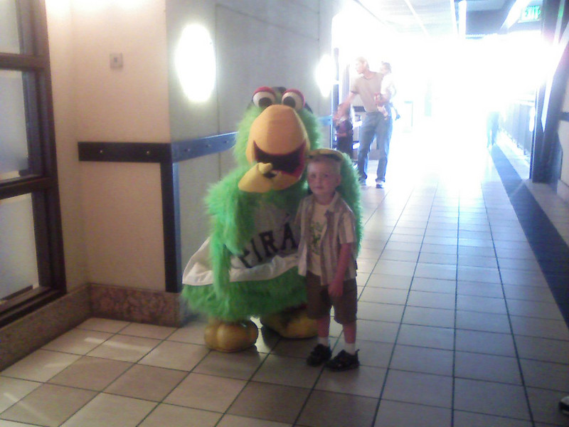 Cousin Gavin with the Pirate Parrot