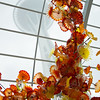 Chihuly Garden and Glass exhibit at the Seattle Center with Space Needle.