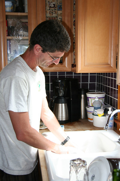 Justin was a machine for washing dishes.   Never complained, just got stuck in and was always looking for ways to help out.