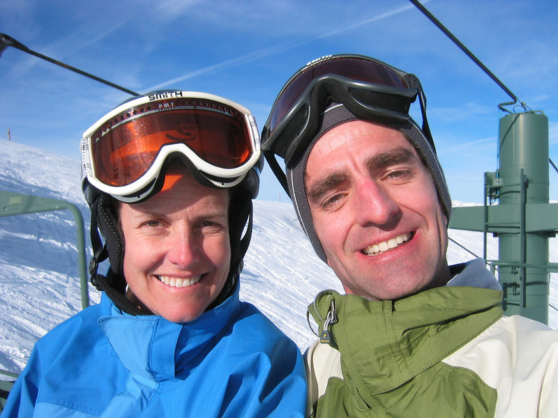 Our 1st ski trip together to Sun Valley in 2004.