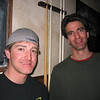 Justin and Damen at the pub, 2004.