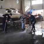 Nettoyage  après passage de la tempête Xynthia