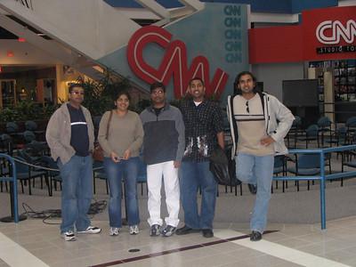 After the CNN Studio Tour - Arun, Aarthi, Bharani, Mukhil and Deb