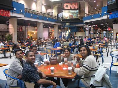 Having Coffee at the CNN Studio headquarters. Mukhil, Arun, Bheem, Aarthi and Deb.