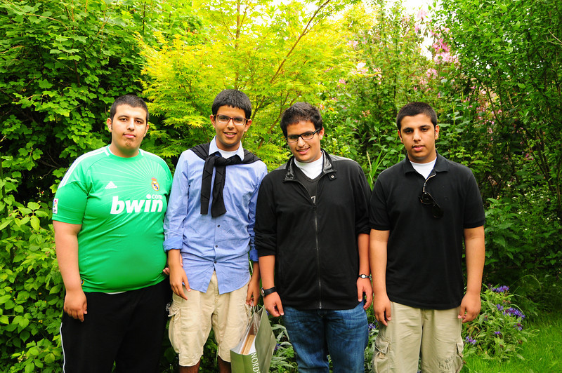 From left:  Abdullah, Hassan, Majid and Saad.  Abdullah and Saad are brothers. Hassan and Majid are sons of twin brothers.  They are all cousins. Hassan and Majid live in the same town, Abdullah and Saad live with the family in a different town.