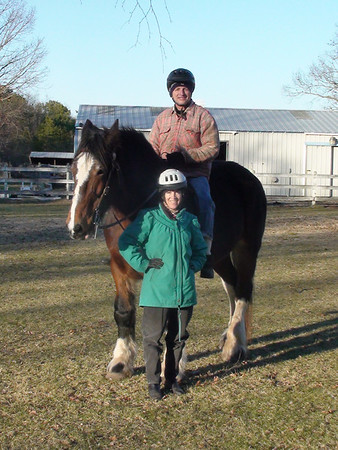 Trixy, American Shire Mare <br /> Keith and Karen<br /> photo 12/25/2009