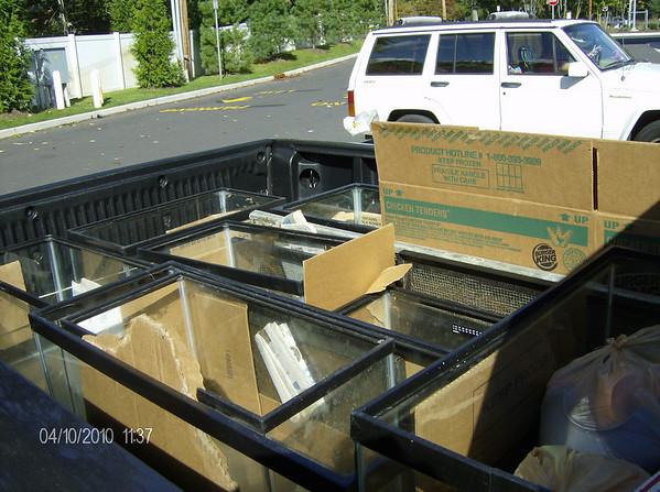 Aquariums going to Rescue Liz.