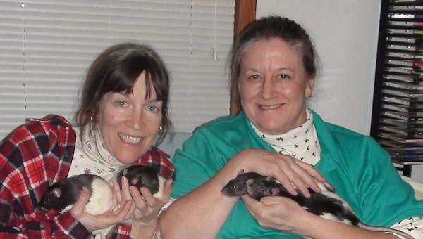 Karen, 26 & 34 Gwen holding 10 & 38
