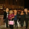 Waiting to enter The Funny Bone: Toni, Karen, Trina, Carla & Ginny.
