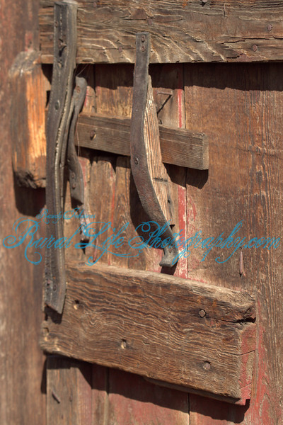 Someone over the years have put a lot of time in the construction and repair of this Barn door latch