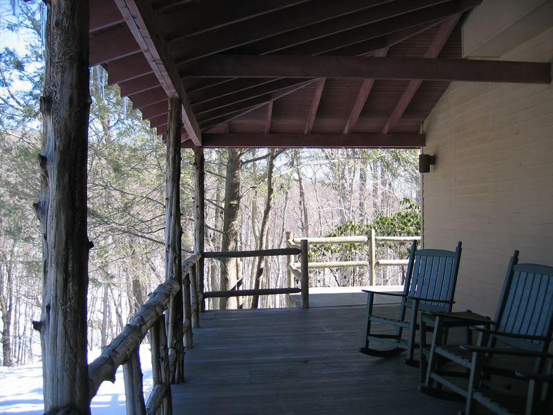 back porch of the LODGE