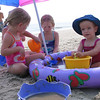 Clare and the Foley Girls playing beach OBX
