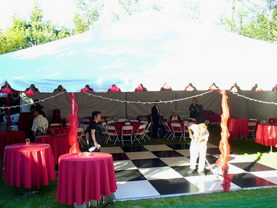 the backyard tent
