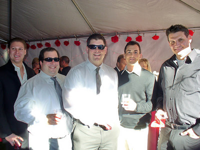 Guys at a wedding Jeremy, Mark, Joe, Jason