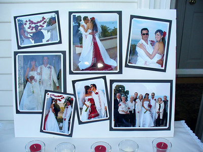Photo collage of the wedding the week before