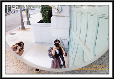 Dina and Pat taking self portrait near Downtown LA.