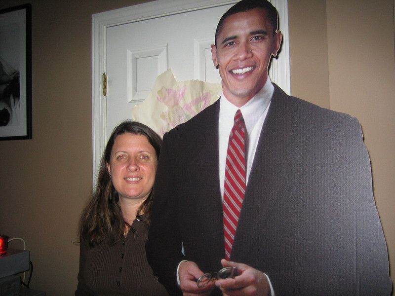 Kristen & Barack.