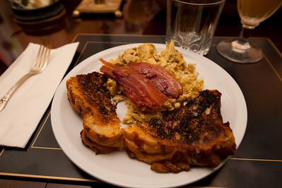 Breakfast! That's cheddar bread toast!