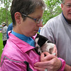 At the Rhubarb Festival, there were puppies for sale- Lulu was heartbroken when she could not take this one home.