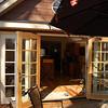 patio doors to the deck