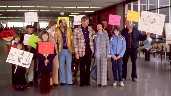 Sonya may have been in shock when we all showed up at the airport to send them off on their 25th anniversary cruise