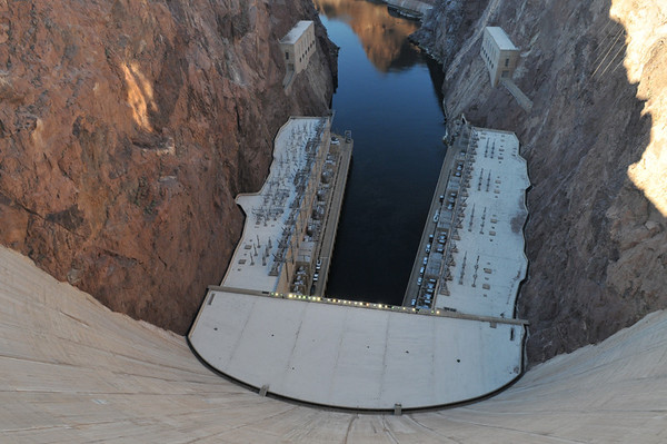 From the top of Hoover Dam