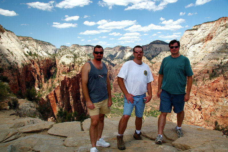 Bill, Joe, and Brian on top of the world.