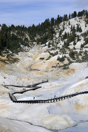 Looking back at Bumpass Hell.