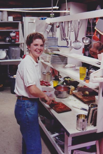 1991 Lazy K Bar Montana Sarah in the kitchen