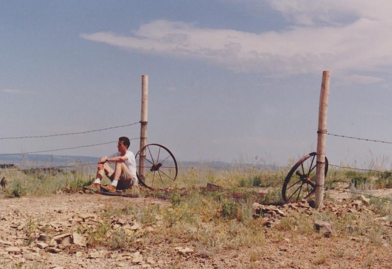 1991 Lazy K Bar Montana Gary by fence post