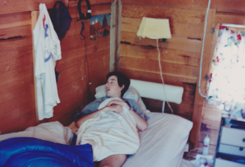 1991 Lazy K Bar Montana Noam asleep
