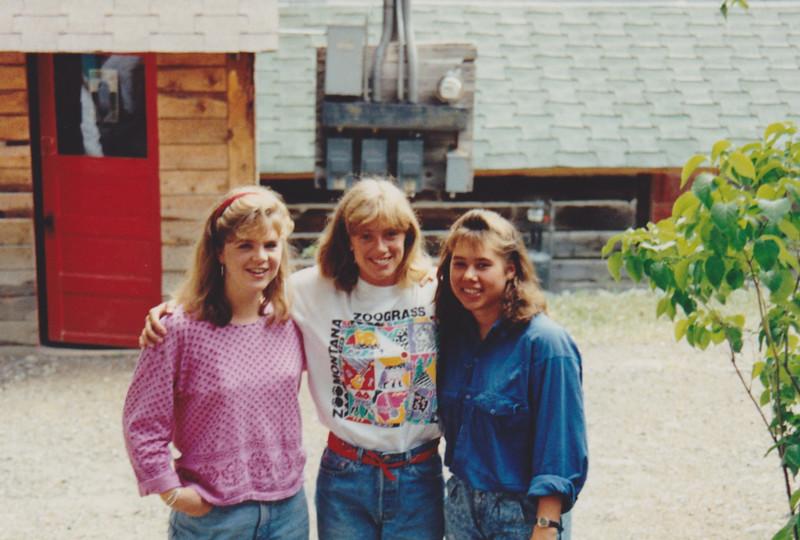 1991 Lazy K Bar Montana Sarah Wendy and Sonia