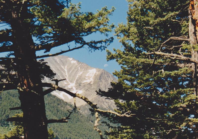 1991 Lazy K Bar Montana crazy peak with moon