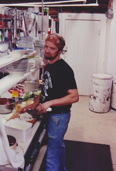 1991 Lazy K Bar Montana John in the kitchen