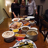 The spread!    Faith, Sally and Lexie had it all planned out for Thanksgiving 2010.