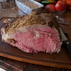 Thanksgiving 2011 and the debut of roast beef being served alongside the  traditional roast turkey. Delicious smoked prime rib   brought from Hill Country BBQ by Lexie.