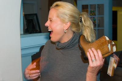 Mom loving Nash's new boots