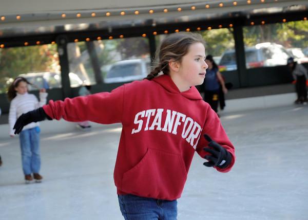 Lexie's skating birthday party, Winterland, Palo Alto, CA, April, 2008