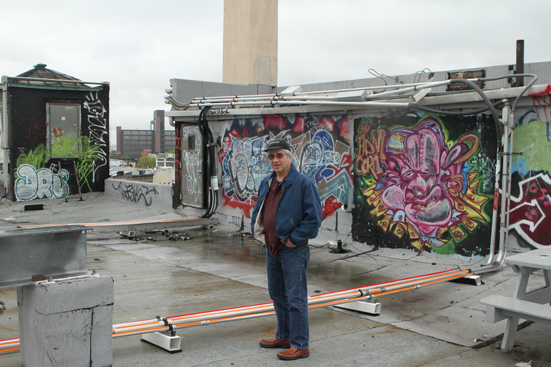David tours the rooftop