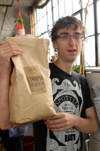 Coffee is purchased in bulk - ready to be ground and brewed