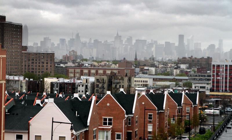 A loft roof top view of the world -Brooklyn looking west toward Manhatten