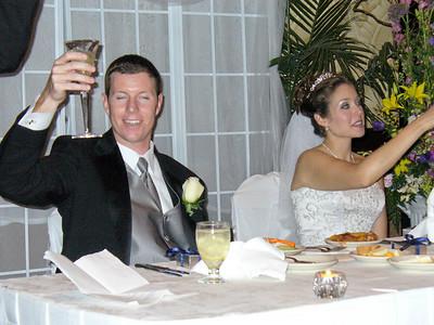 Enjoying the toasts