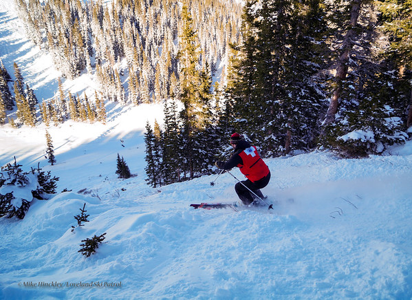 Patrol day at Loveland Ski Area, valley chair #3