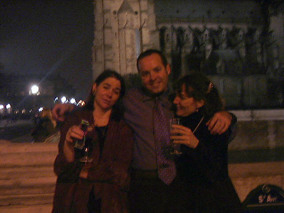 """New Years in Paris, 2000.  Lucia, me & Meredith......""""Bon annee!""""  (or something like that)"""